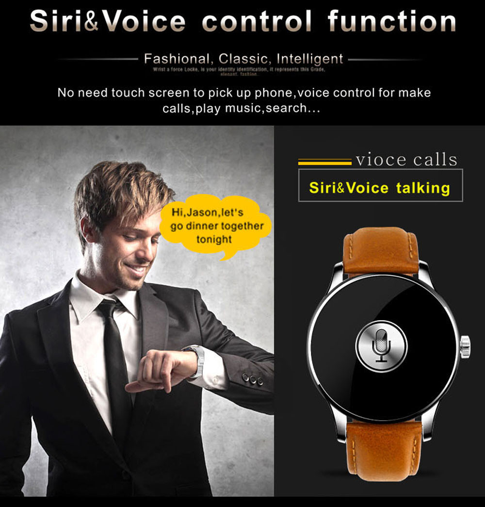Makibes K88H Bluetooth Smart Watch Classic Health Metal Smartwatch Heart Rate Monitor for Android ISO Phone Remote Camera Clock 10