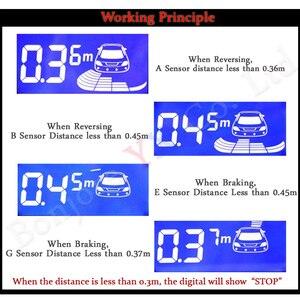 Image 2 - جهاز استشعار رقمي لكورينوو كهرومغناطيسي بشاشة LCD لوقوف السيارات 4/6/8 جهاز استشعار لصوت الرادارات الأمامية نظام باركتروني عكسي للخلف