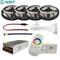 5 20m RGBW RGBWW Led Strip Light 5050 DC 12V 4 in 1 Chip IP20/IP65 Waterproof + 2.4G RF Remote Controller + Led Power Supply Kit