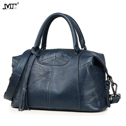 MJ женская сумка из натуральной кожи, женская сумка-тоут из натуральной коровьей кожи, Женская Большая вместительная сумка на плечо, сумки че...
