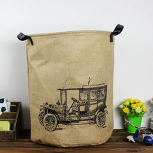 Contracted Cotton and Linen Cloth Art Product Dirty Clothes Sundry Receive 0072 Barrels/storage Basket/receive Basket