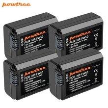 цена на 4PCS 2000mAh 7.2V Powtree For Sony  NP FW50 NP-FW50 NPFW50 Camera battery For SLT-A33  SLT-A35  SLT-A37 Alpha 7 a7 7R a7R a3000