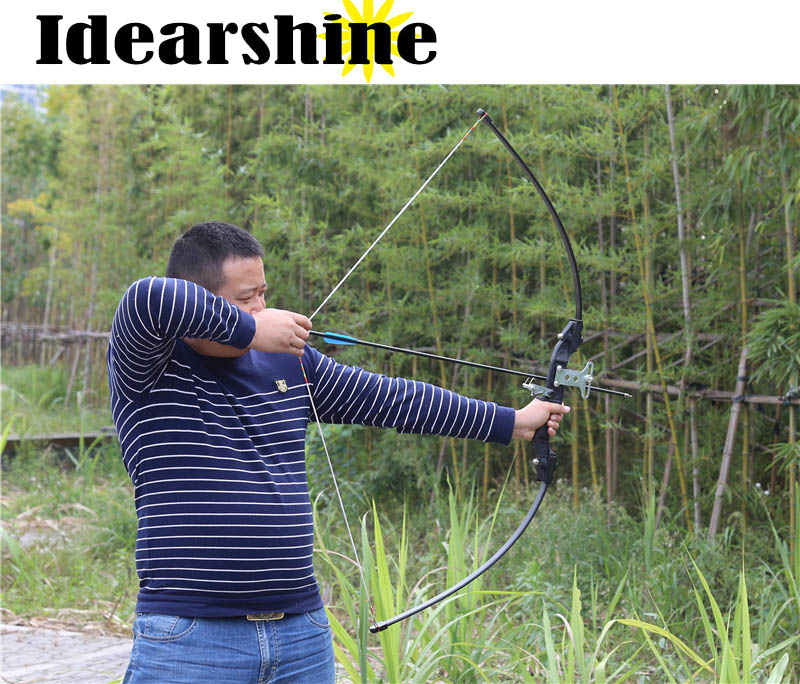 Archery Hunting Bow Fishing Straight Long Bow For Outdoor