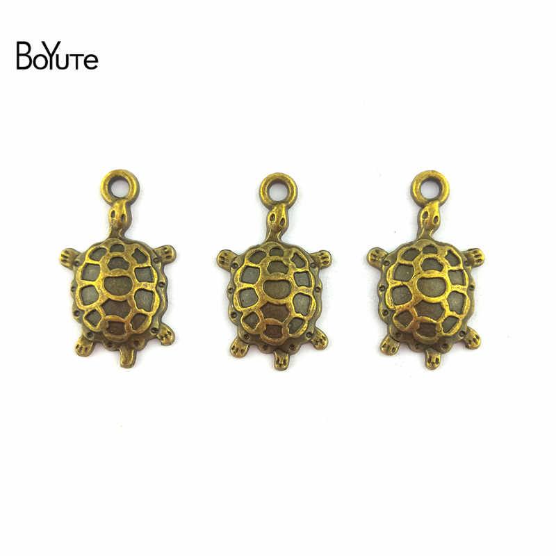 BoYuTe (50 יח'\חבילה) עתיק כסף ברונזה מתכת ים צב מחבר קסמי עבור תכשיטי ביצוע Diy