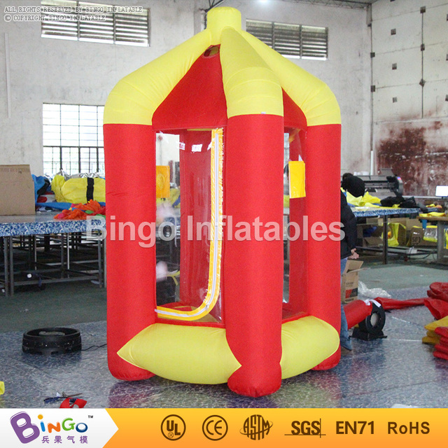 Rojo y amarillo inflable stand dinero dinero grabber catch corriendo juego del dinero para la promoción 2.5 m hign BG-A0675-3 juguete