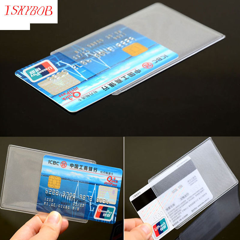 10pcs Credit Card Protector Secure Sleeves ID Card Holder PVC ...