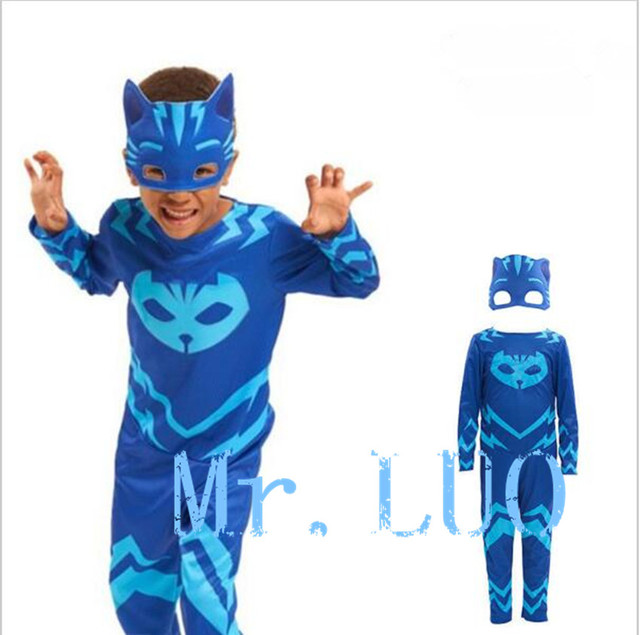 High quality PJ  mask hero of children cosplay costume and PJ Masks cosplay costume and birthday party cosplay costume