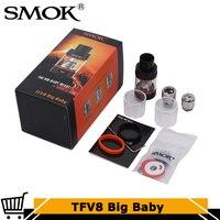Original Smok TFV8 Big Baby Atomizer 5ml Top Filling TFV8 Big Baby Beast Tank fit E Cigarette SMOK G Priv Alien G150 Box Mod