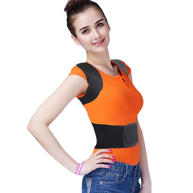 Ajustável Terapia Back Support Brace Belt Banda Postura Shoulder Corrector Perfect Voltar Curve Hump Corset cuidados de Saúde