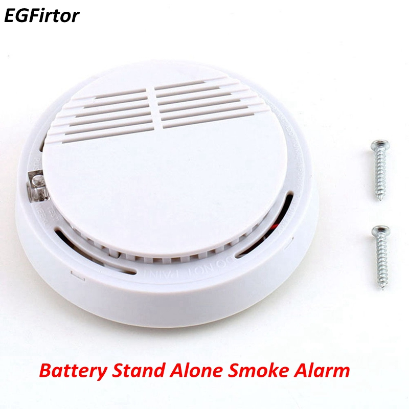 Battery Fire Alarm Independent Photoelectric Smoke Detector 85DB Sounder Stand Alone Smoke Alarm Sensor high quality 10 years battery life stand alone fire alarm smoke alarm independent photoelectric smoke detector