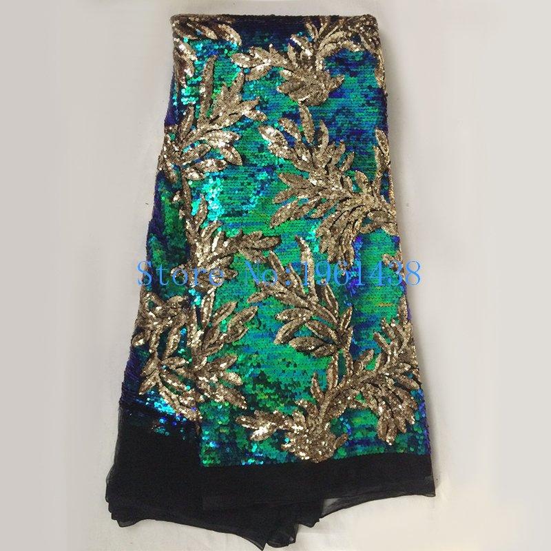 2017 새로운 프랑스어 나이지리아 골드 장식 조각 레이스 아프리카 얇은 명주 그물 레이스 패브릭 파티 웨딩 드레스에 대한 고품질의 고급 장식 조각-에서레이스부터 홈 & 가든 의  그룹 1