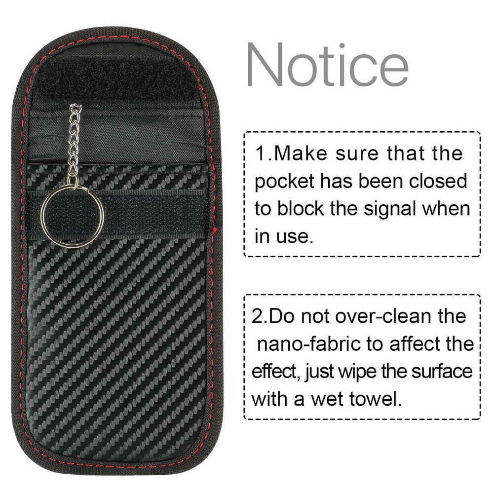 Противоугонная бесключевая крышка ключа автомобиля RFID сигнал радиации Блокировка Farady сумка Автомобильный ключ кошелек