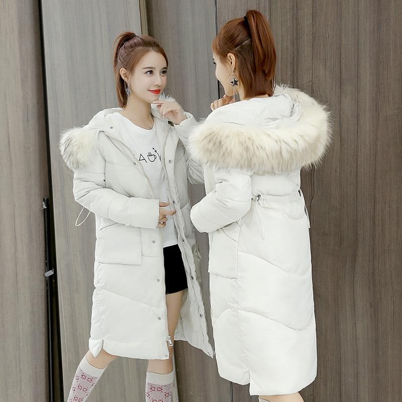New Chaud bourgogne blanc Mode Épaississement Femmes Noir Grande Le Veste Bas Parka Nouvelle 2018 De Real Vers D'hiver ardoisé Longueur Manteau Fourrure 0wt41