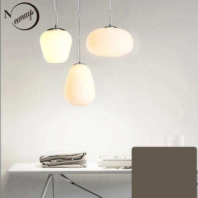 Скандинавский молочно белый подвесной светильник simlpe E27, стеклянный одноголовый светильник для гостиной, столовой, спальни, прикроватной тумбочки, ресторана, кафе бара