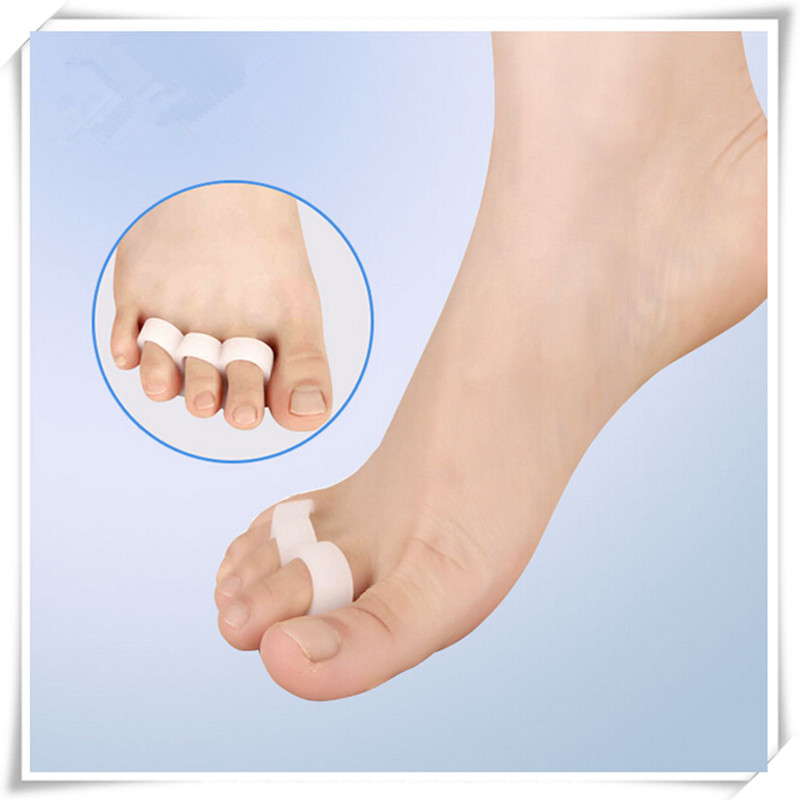 2pcs/pair Silicone Gel Toe Separator Correction  Orthopedic Cushion Metatarsal Rings Feet Care Shoes Cushion Foot Pads #989
