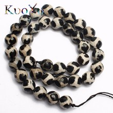 Faceted Black Tibetan Mystical Old Onyx Spherical Beads Natural Stone Beads For Making DIY Jewelry 15.5 inches 6 8 10 12mm