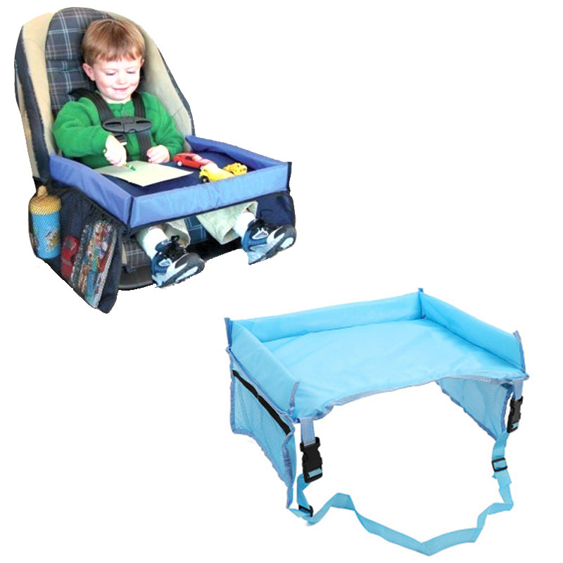Kids Baby Car Seat Tray Stroller Kids Toy Food Water Holder Desk Children Portable Table For Car New Child Table Storage Playpen