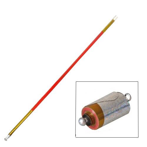 Lungo Apparendo canna In Metallo Oro-colore rosso (1.4 m) bastone magico trucchi magici bastone magico