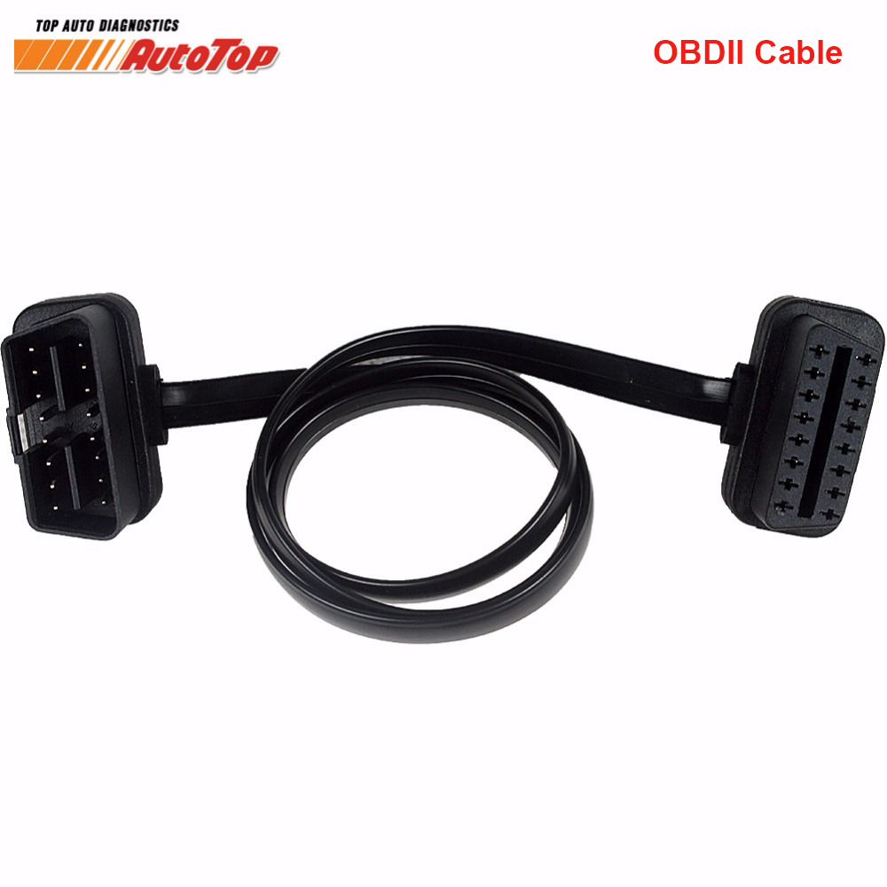 Top Sale 60CM 16 Pin Male To 16 Pin Female OBD OBD2 Diagnostic Extension Connector OBD 2 Car Diagnostic Adapter Cable for ELM327 obd 2 16 pin female to 16 pin male extender cable