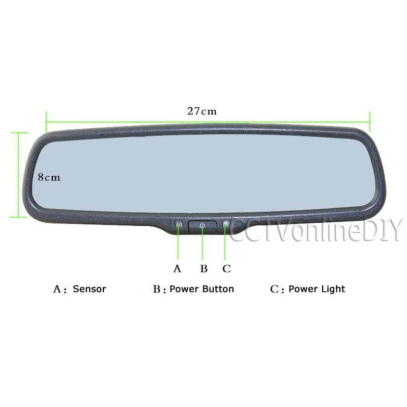 ANSHILONG автомобильное заднего вида внутреннее Автоматическое затемнение зеркала со специальным кронштейном - 3