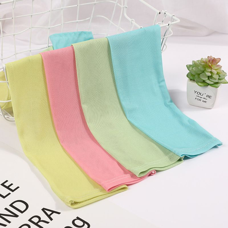 Womens Summer Cooling Arm Sleeves Cover Sweet Solid Candy Color Outdoor Cycling Sun Protection Fingerless Gloves With Thumb Hole