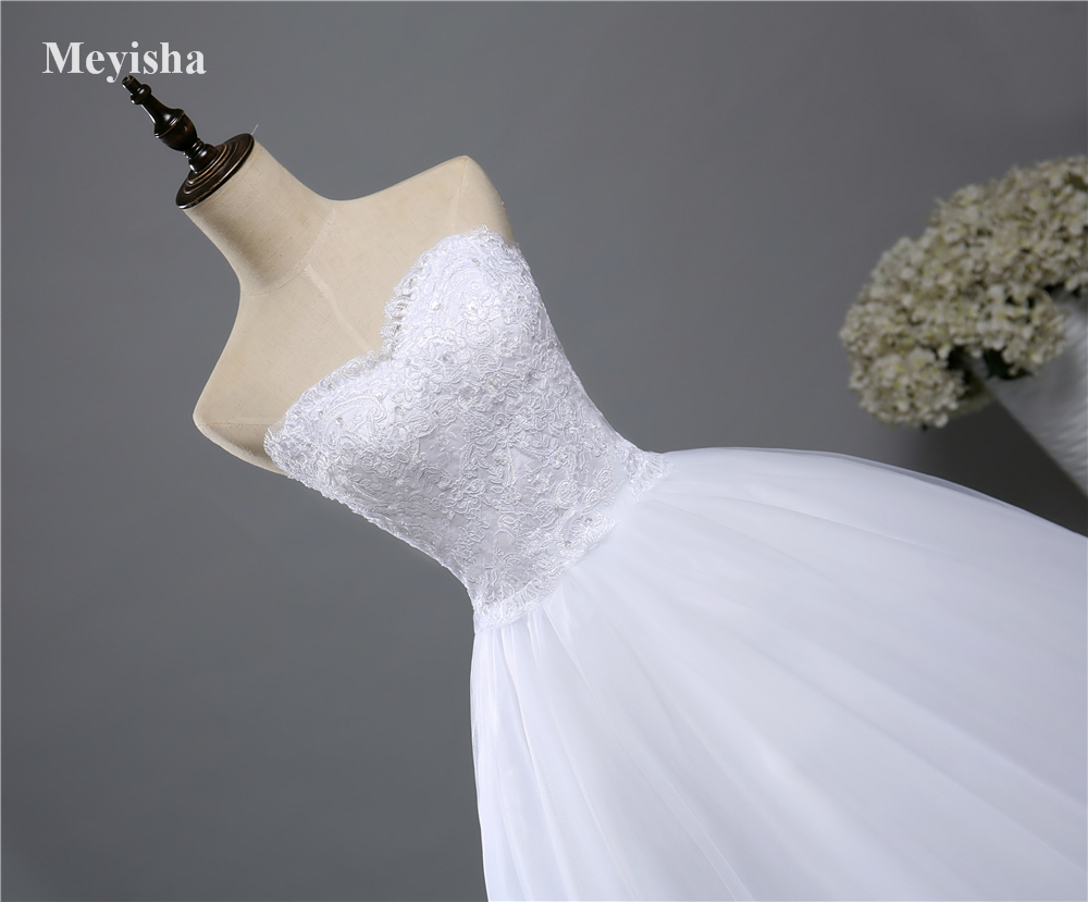 Zj9022 corset lace up 2016 2017 beads strapless crystal for Corset lace up wedding dress
