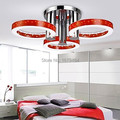 LED 54w  Acrylic CEILING LIGHT Red Color with 3 lights (Chrome Finish) Free Shipping 110-240V