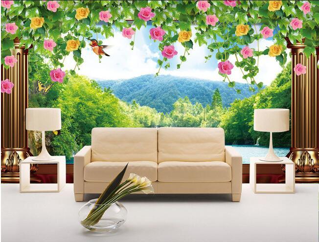 3d wallpaper custom mural non-woven 3d room wallpaper 3d Flower vine landscape backdrop murals photo 3d wall murals wallpaper