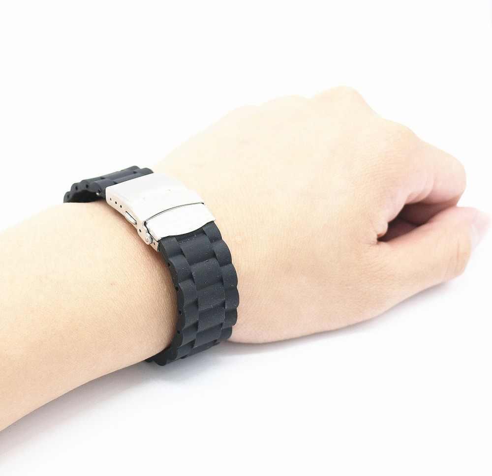 Резиновый силиконовый ремешок для мужчин и женщин, браслет для mk dw, часы для часов, часы для часов, Casio, tissot, Omega, Seiko, GMT, IWC, samsung, аксессуары для часов