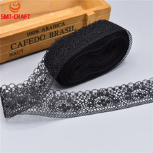 10 Yards/Lot High Quality Beautiful Lace Ribbon Tape 40MM Lace Trim DIY Embroidered For Sewing Decoration african lace fabric