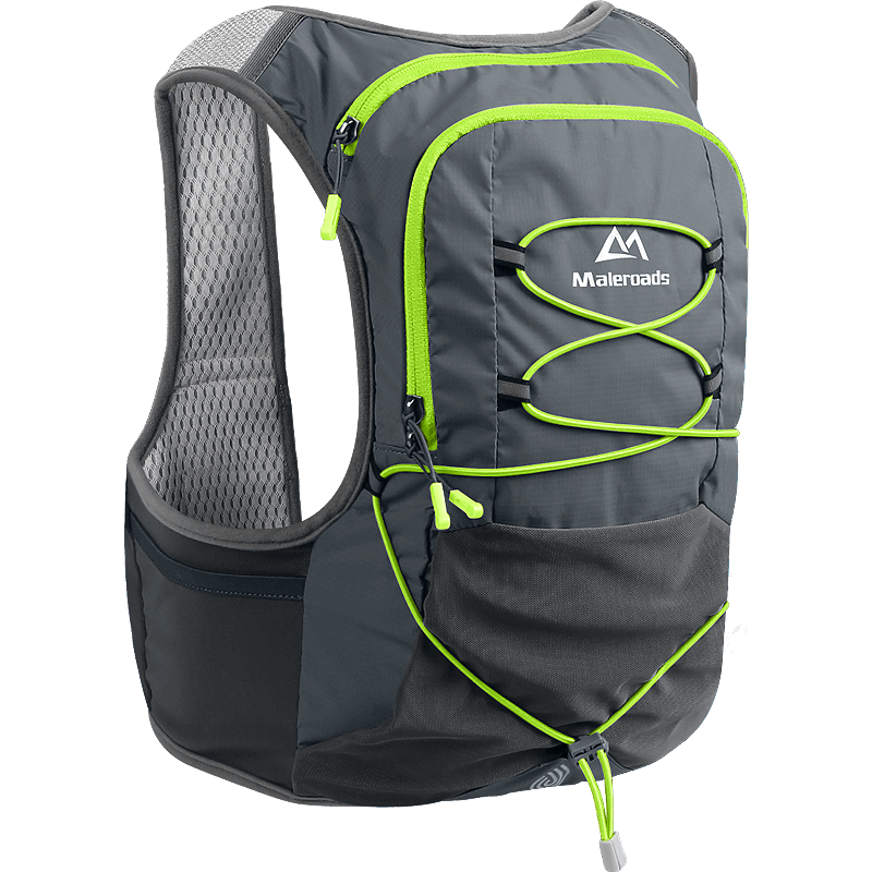 Maleroads Marathon Hydration Backpack Outdoor Running Bag Hiking Backpack Vest Marathon Backpack Walking Cycling Rucksack 8L