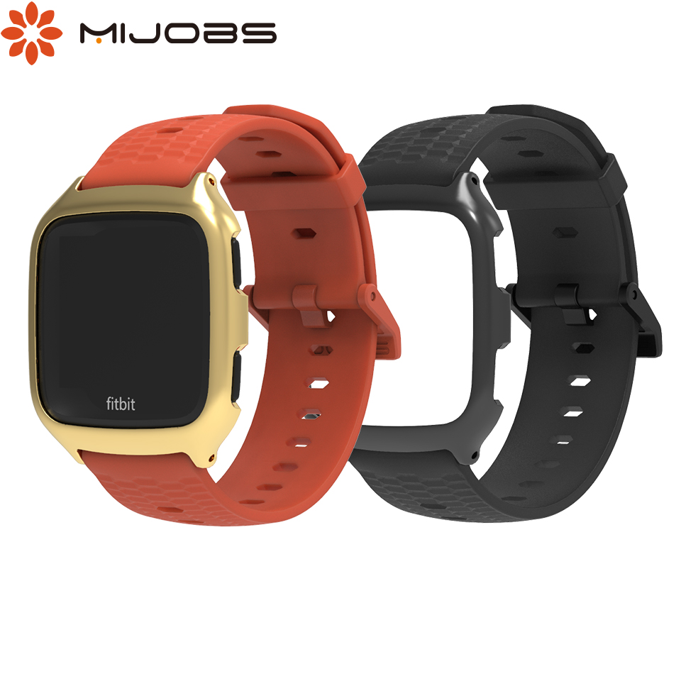 Mijobs TPU Silicone Wrist Band Strap For Fitbit Versa Strap Smart Watch Accessories For Fitbit Versa Band Sport Bracelet Correa