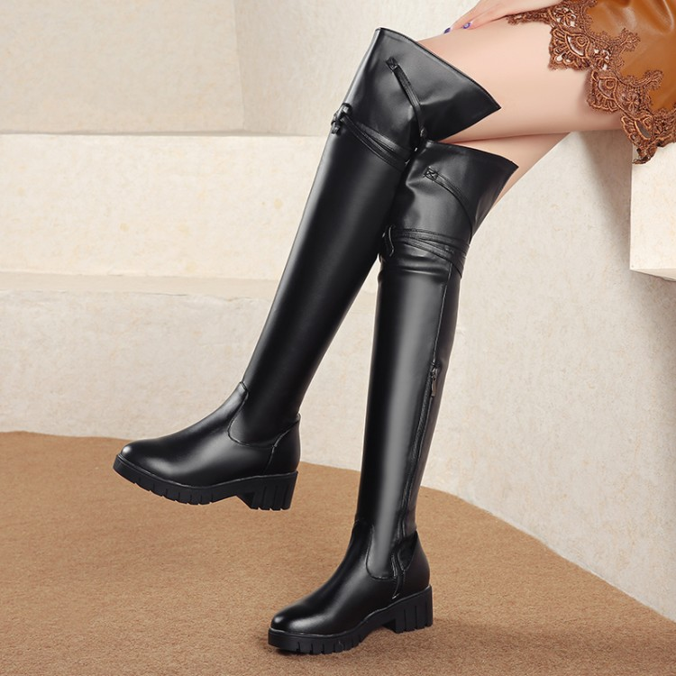 Big Size 9 10 11 12 thigh high boots knee high boots over the knee boots women ladies boots Side zipper with belt buckleBig Size 9 10 11 12 thigh high boots knee high boots over the knee boots women ladies boots Side zipper with belt buckle