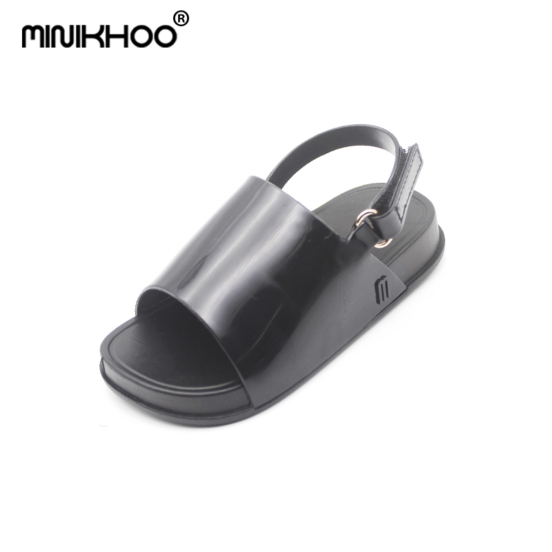 Mini Melissa 2018 New Children Shoes Sandals for Girls Casual Sandals Slip Wear-resistant Children Mini Melissa Beach Sandals