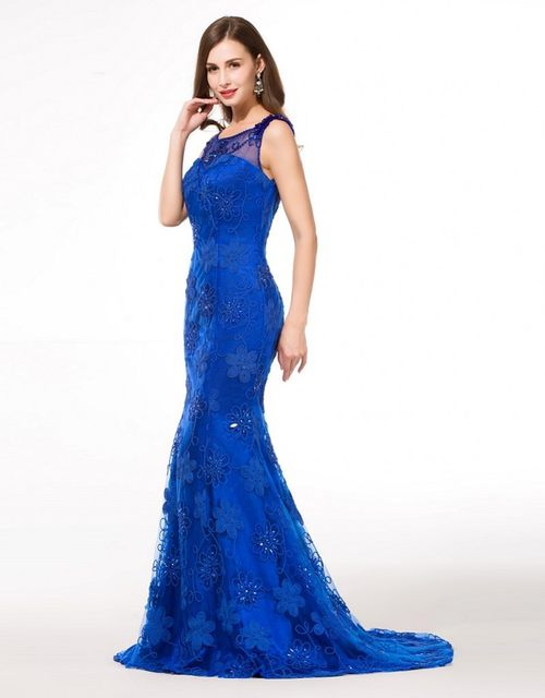 Royal Blue Evening Gowns