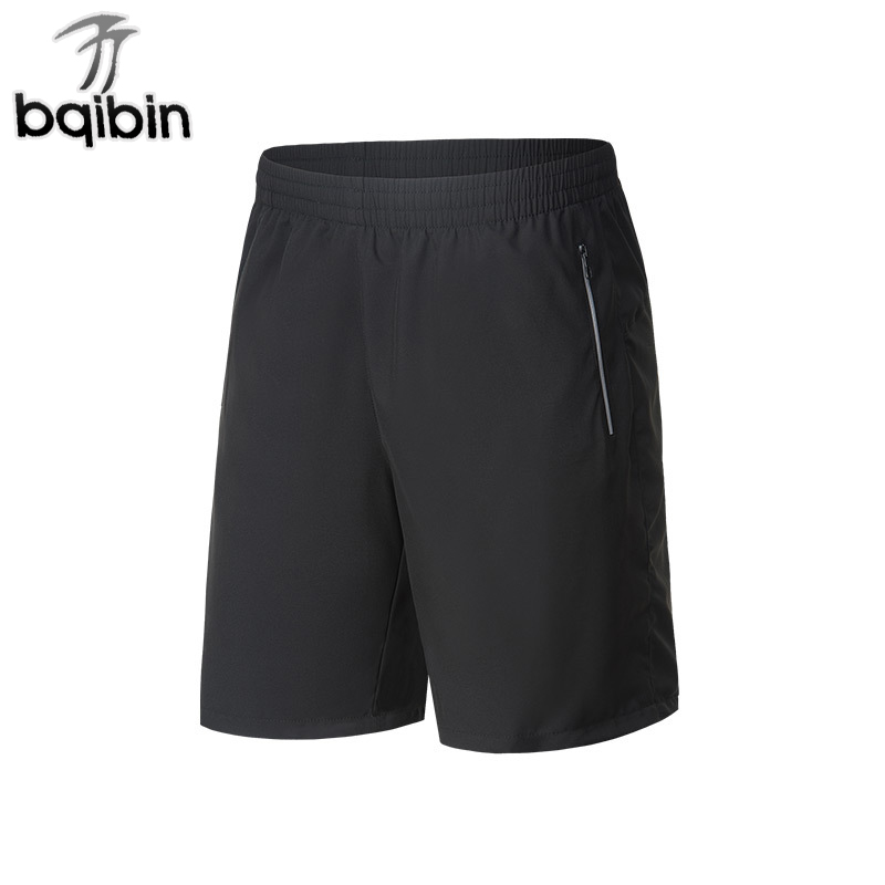 2018 Casual Beach Shorts Men Elastic Waist Sim Fit Solid Knee Length Bermudas Masculina Plus Size Mens Shorts