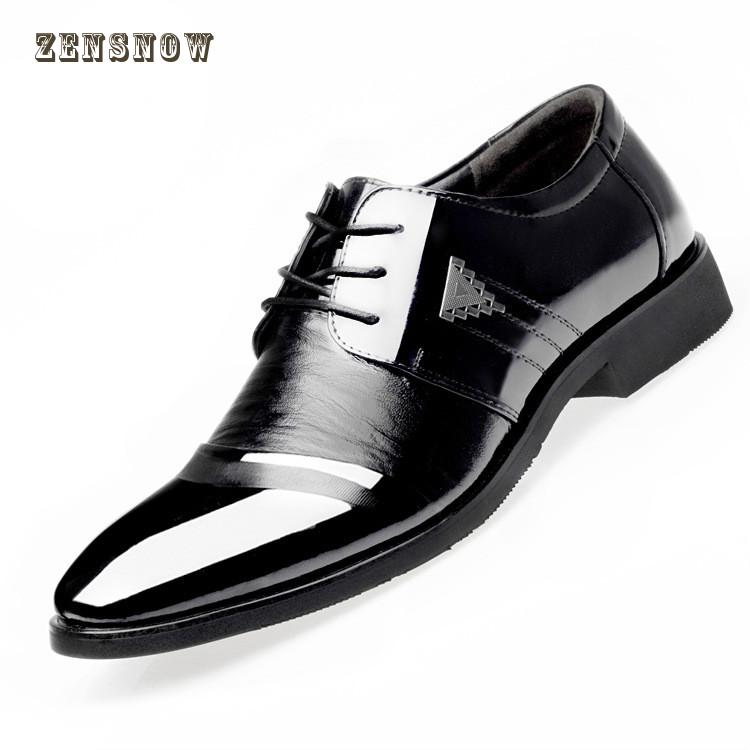 top Exquisite business mens leather shoes 2018 spring new big code 38- 45 professional dress casual men shoe wedding shoes