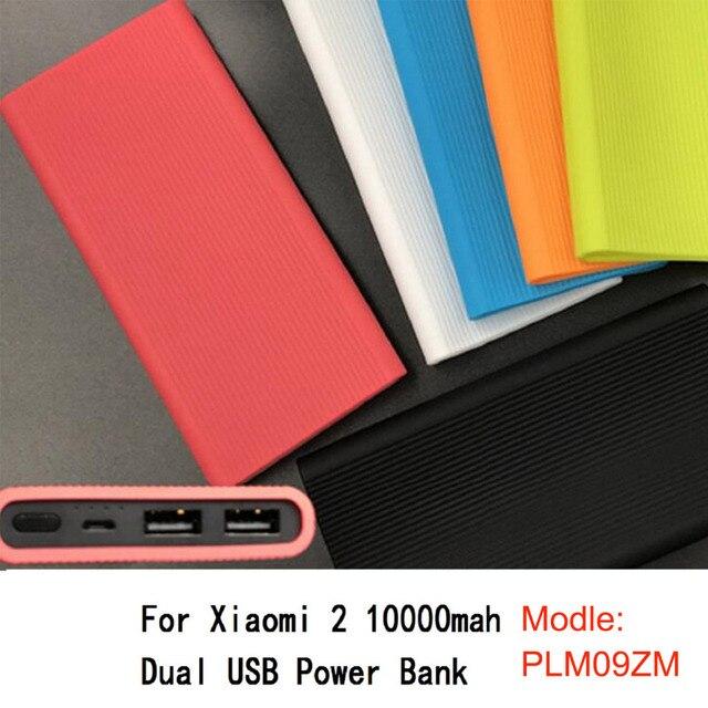Funda protectora de silicona de Besegad para nuevo Xiaomi Xiao mi 2 10000 mAh Dual USB Power Bank powerbank accesorio