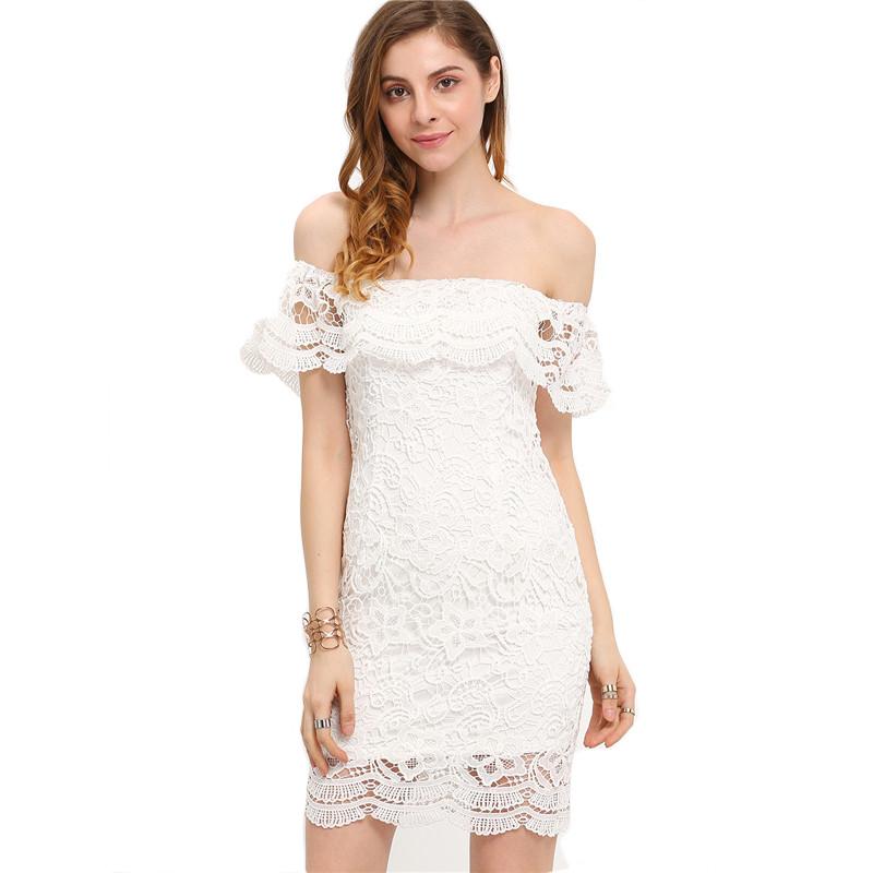 HTB1pq.vKpXXXXagXpXXq6xXFXXXP - Women Mini Dresses White Off the Shoulder Bodycon Dress JKP045