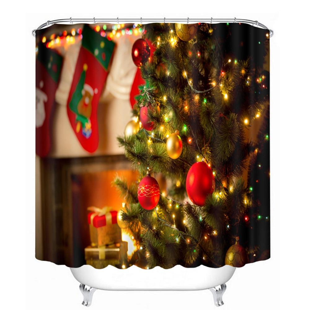 26 farben 3d duschvorhang Weihnachten Wasserdicht Polyester Bad ...