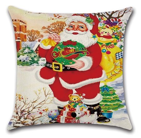 Image 4 - 2pcs Christmas Santa Deer Bulb Tree Socks Cushion Sofa Bedroom Decorative Pillow Cover Cushion Cover Home Sweet Pillow Case-in Cushion Cover from Home & Garden