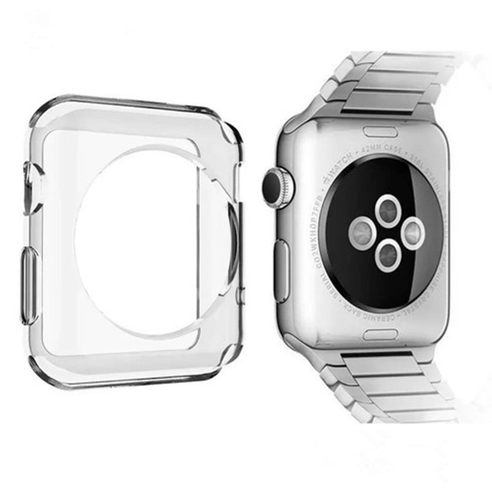 Watch Case For Apple Watch Series 1 2 3 Watch Silicone Protective Cover For Apple 38mm 42mm Replacement Protective Accessories