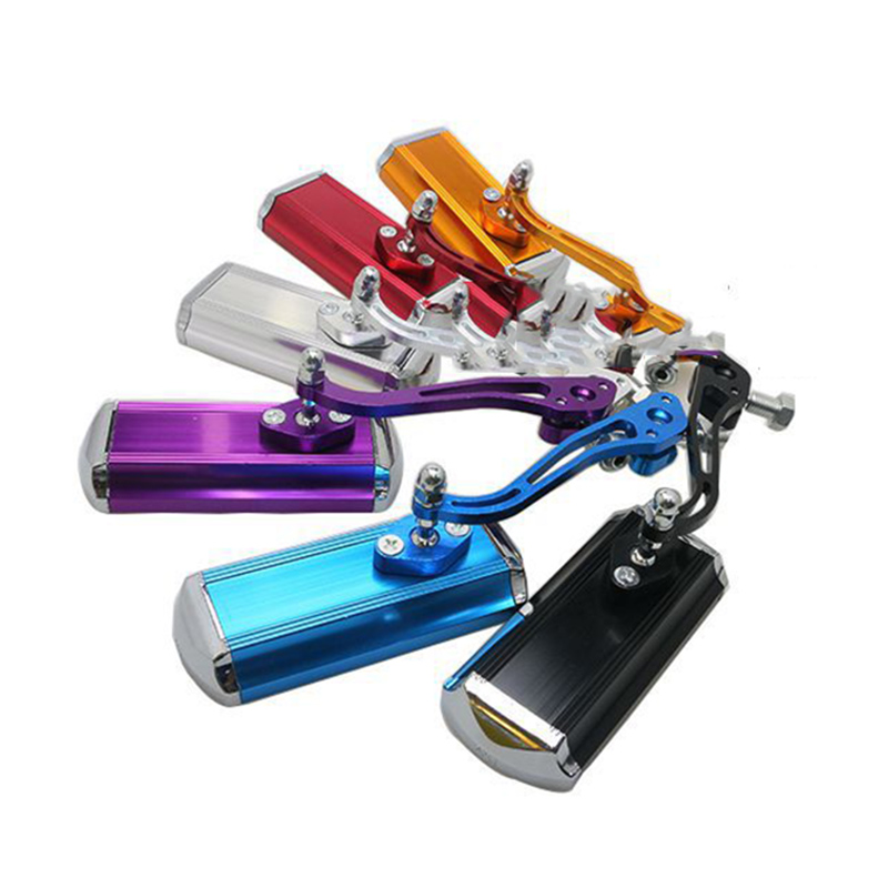 New Road Motorcycle Cycling Bike Aluminum Alloy 360 Rotate Bicycle Reflective Safety Handlebar Rearview Mirror Pair