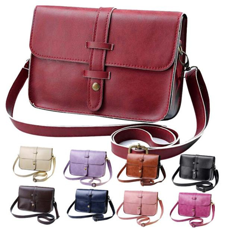 2018 New Brand Women Vintage Purse Bag Ladies Leather Cross Body Shoulder Bag Cover Messenger Bag for women 2017 luxury bolsas S