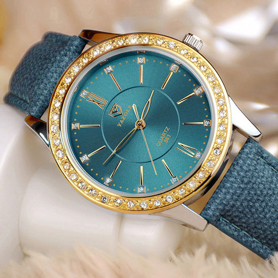 YAZOLE Gold Diamond Quartz Watch Women Ladies Famous Brand Luxury Golden Wrist Watch Female Clock Montre Femme Relogio Feminino wecin f5049 female quartz watch with diamond decoration golden watch case