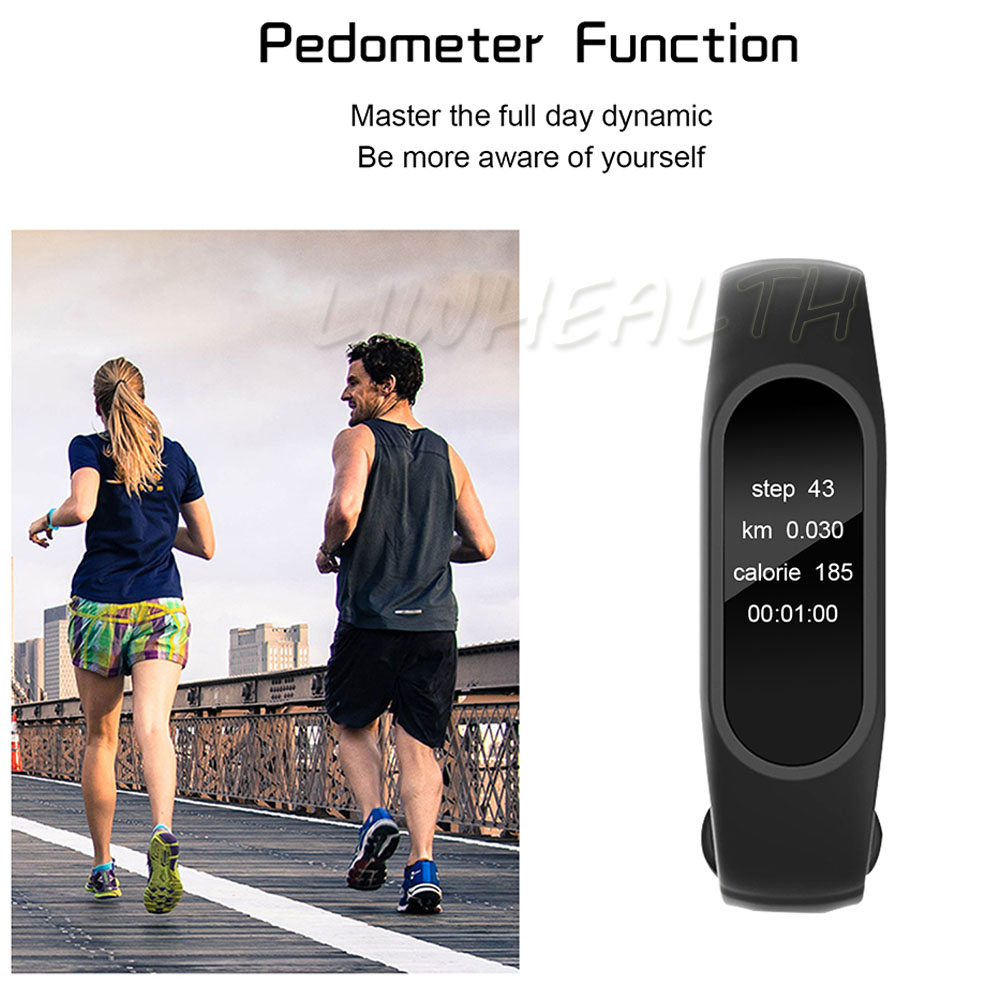 Cheap L2 Smart Fitness Bracelet Heart Rate Monitor Watch Clock Pedometer Activity Tracker For IOS/Xiaomi/Honor PK Mi Band 2/3/4 19