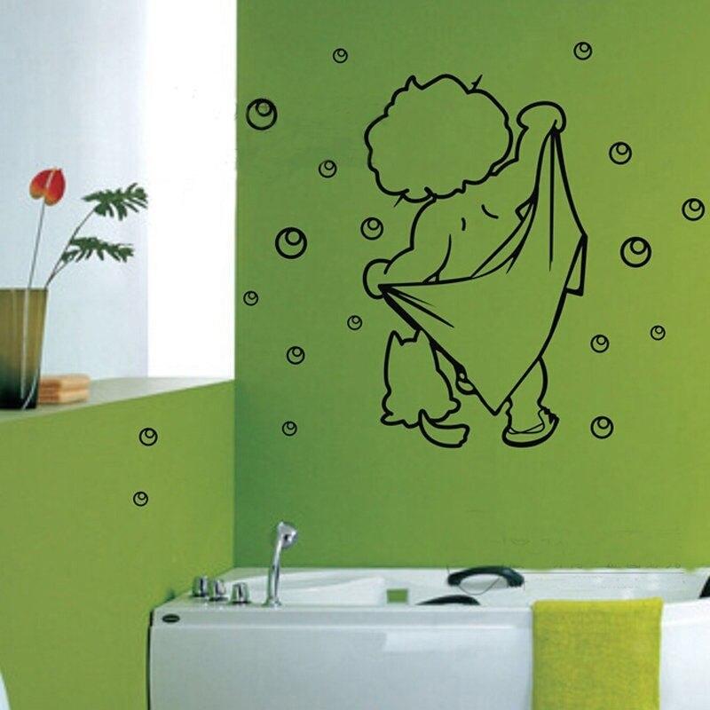 hot bambino divertente bagno adesivi murali autoadesivi di vetro impermeabile adesivi decorativi per i bambini 2017