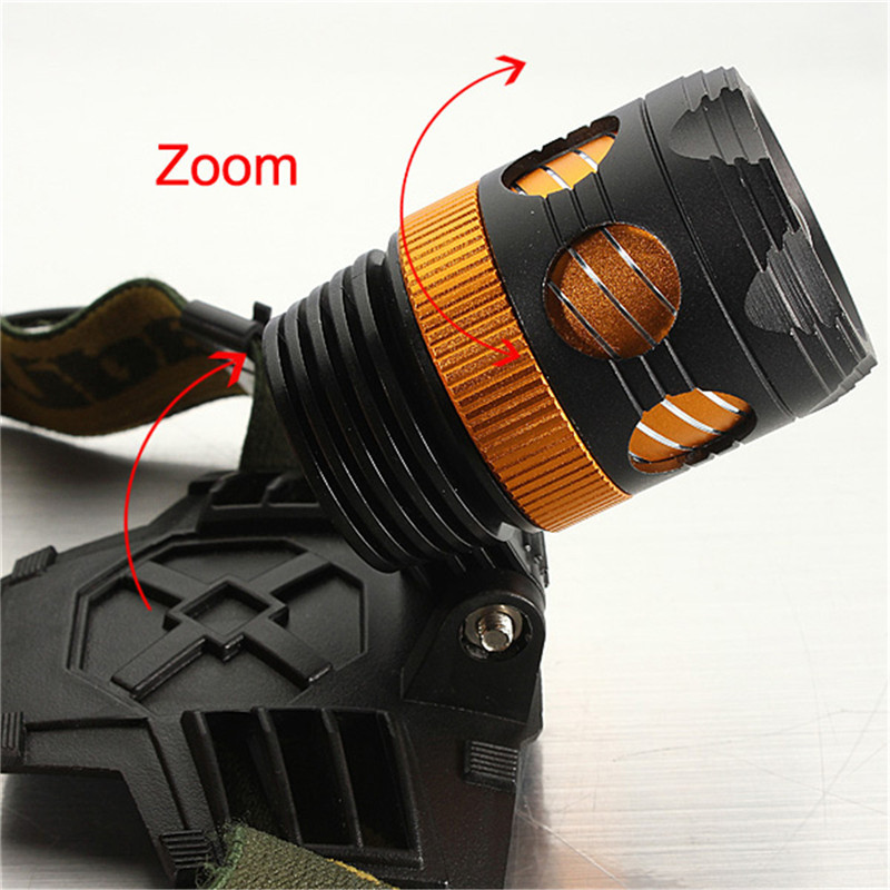 High Power 3 Modes 3000lm XML T6 LED Zoomable Flashlight Bike Bicycle Light Headlight Head Lamp 18650/3AAA Battery Torch