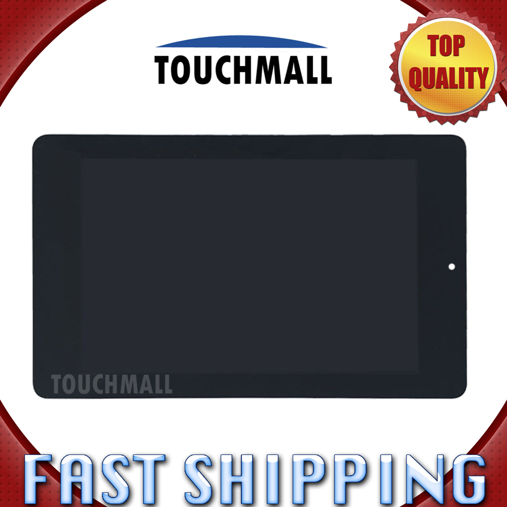 For Acer Iconia One 7 B1-730 Replacement LCD Display Touch Screen Digitizer Glass Assembly 7-inch Black For Tablet new 5 black lcd display glass touch digitizer screen assembly for acer liquid z530 lte t02 replacement