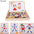 Niosung New Multifunctional Drawing Writing Board Magnetic Puzzle Sketchpad Wooden Toy Kids Children Gift